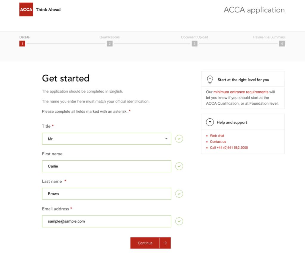 ACCAに登録する3